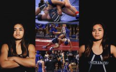 Senior Ashlee Palimoʻo, team captain, Maui Interscholastic League champion, and state finisher in wrestling.