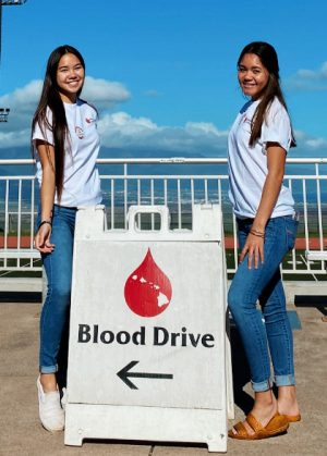 Juniors Danielle Bridge and Jayci Bulosan are ready to start saving some lives through their blood drive.