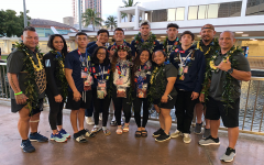 KSM wrestlers and their coaches after the 2020 Texaco/HHSAA Wrestling State Championships held on Feb. 21-22, 2020, at the Neal Blaisdell Arena. Three wrestlers placed in the top five.