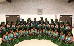 Hālau O Ka Hanu Lehua smiles with joy after performing