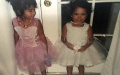 Me and my sister, Brie, as pretty, pretty princesses. Ah, the good old, pre-COVID days.