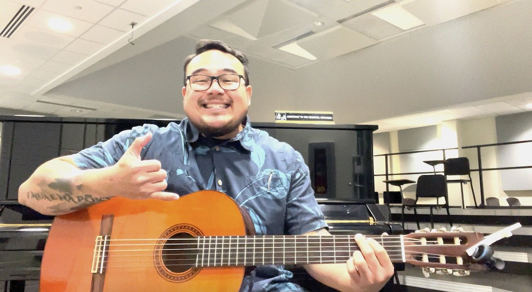 While being both a music teacher and musician, Mr. Boro always enjoys playing his guitar during his downtime.